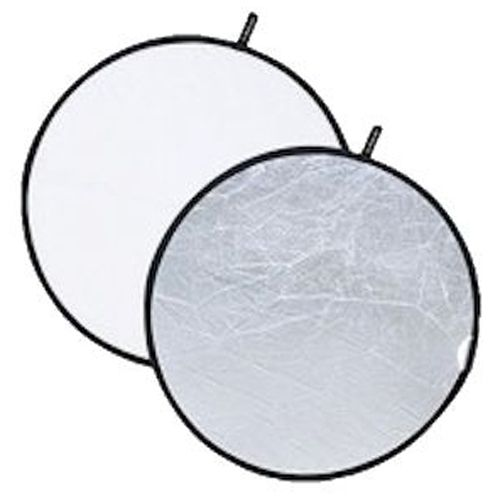Reflector for photo F & V 2in1 Silver / White 110cm