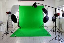 Background for Photoshop tissue green 3 * 6m