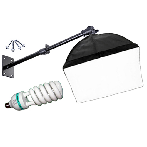 Softbox 40x40cm, 325W with ceiling / wall mount